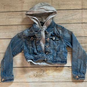 GUC Justice Distressed Jean Sweat Jacket Size 10